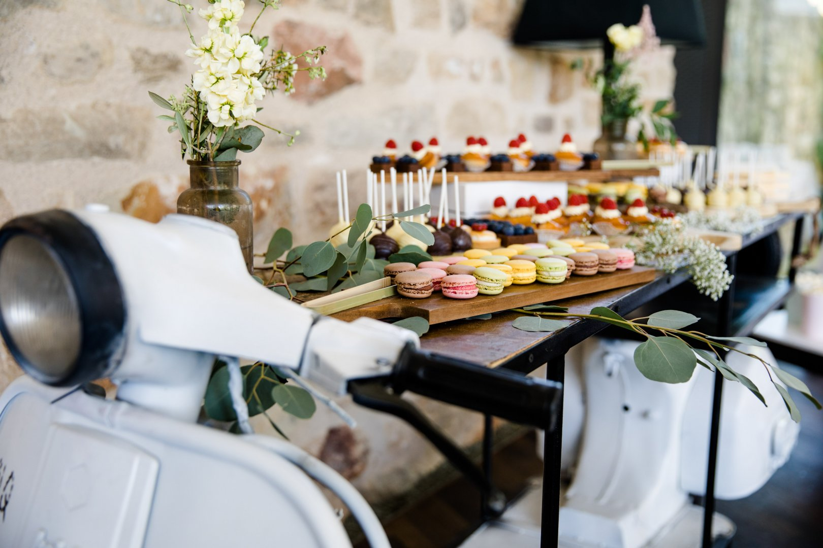Photograph Brunch Table Yellow Furniture Room Flower Meal Rehearsal dinner Tableware Chair Floristry Textile Tablecloth Interior design Plant Centrepiece Restaurant Wedding reception Party Floral design Linens Flower Arranging Breakfast Banquet Ceremony