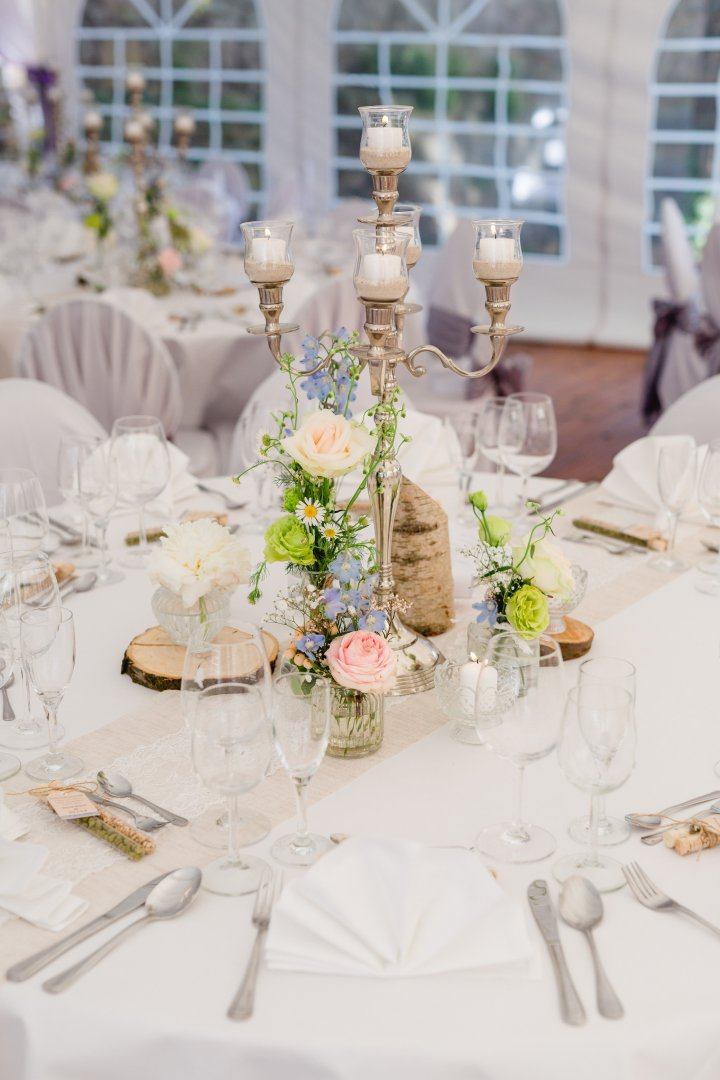 Centrepiece Photograph Wedding banquet Decoration Rehearsal dinner Yellow Wedding reception Tablecloth Table Flower Pink Floristry Branch Floral design Event Flower Arranging Ceremony Textile Tableware Plant Linens Party Chair Furniture Interior design Bouquet Champagne stemware Peach Banquet Wedding