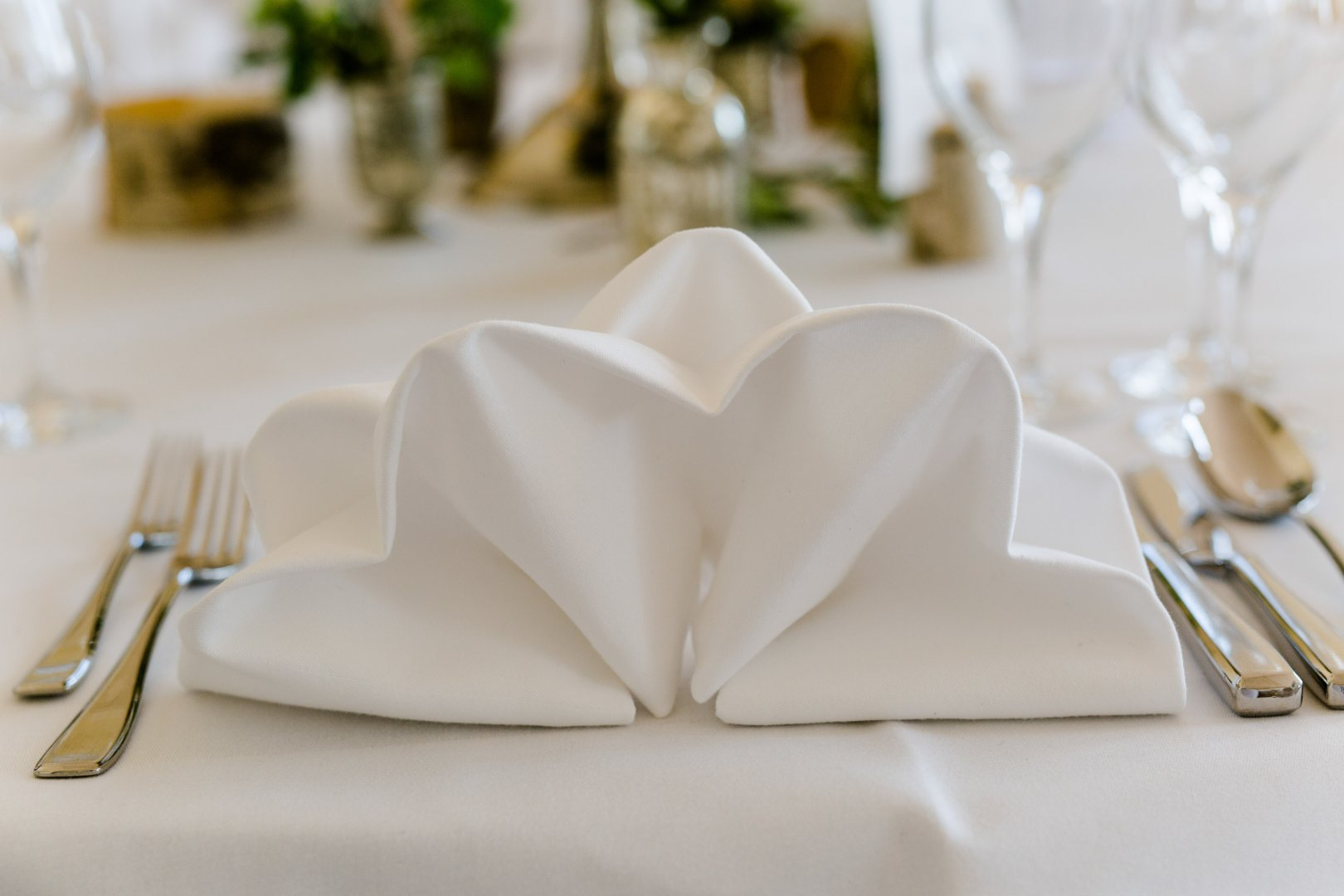 White Napkin Tablecloth Wedding favors Linens Tableware Table Wedding reception Ceremony Party favor Home accessories Party supply Wedding Heart