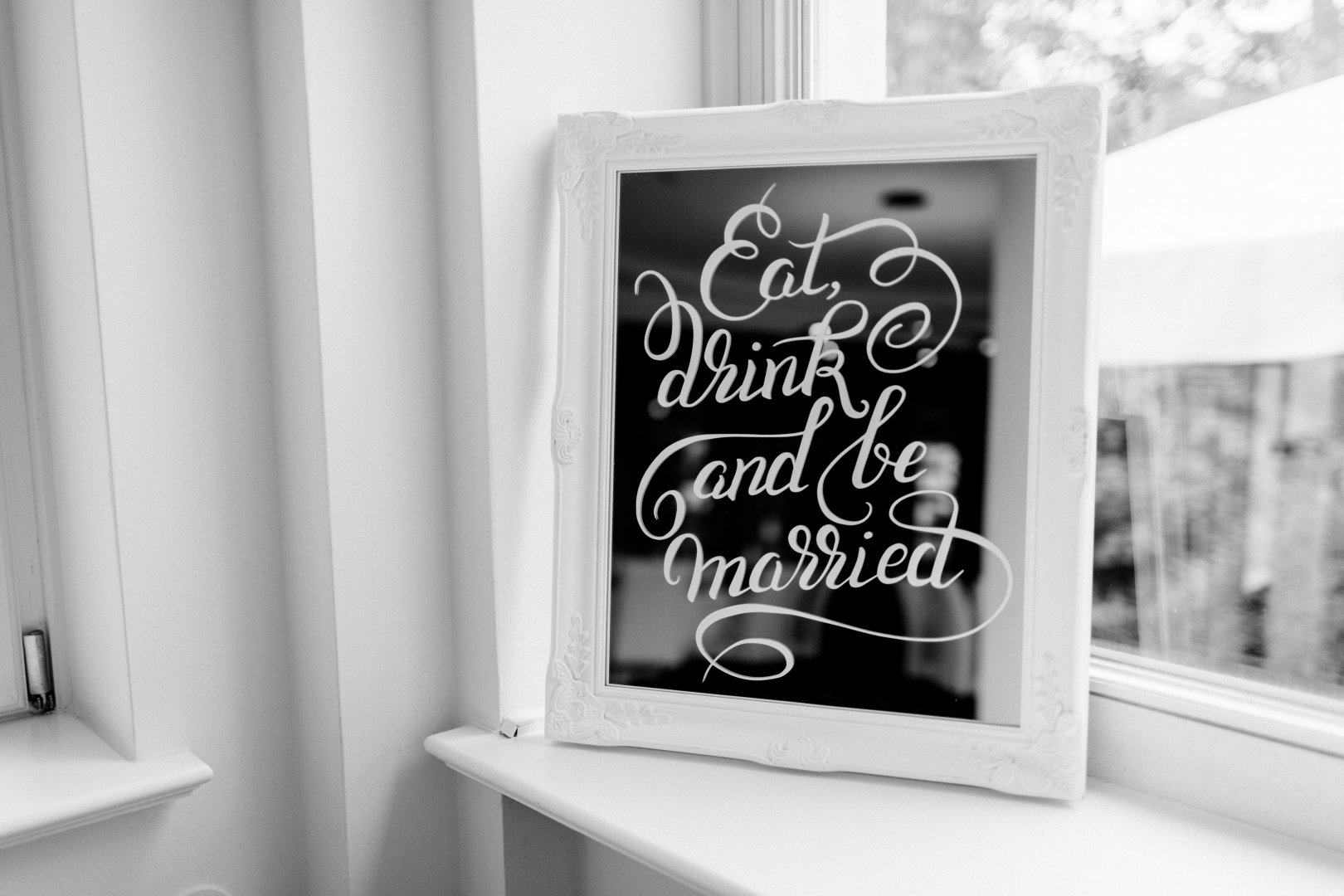 White Photograph Black Black-and-white Text Font Calligraphy Room Monochrome photography Photography Picture frame Art Style Interior design