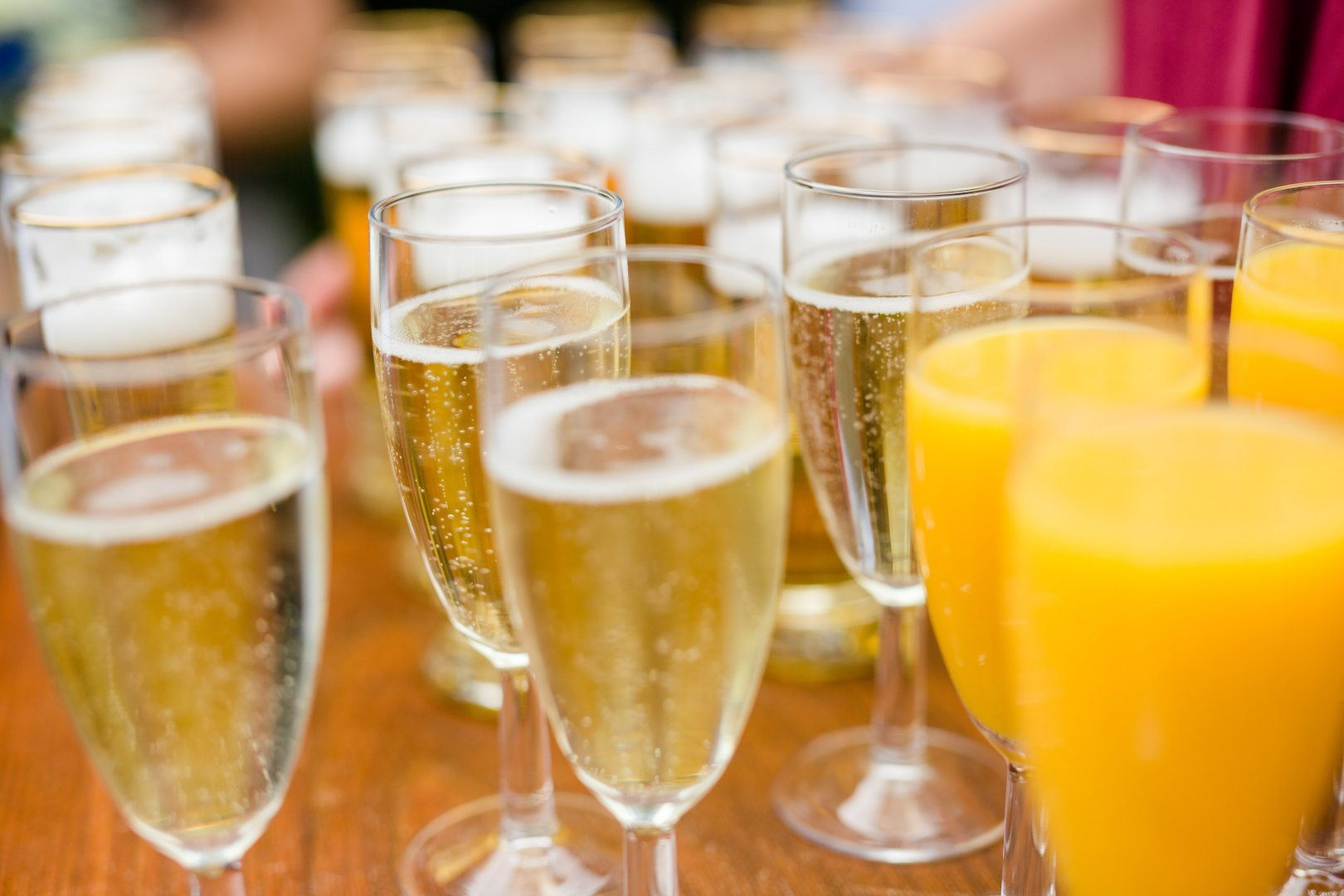 Champagne cocktail Drink Alcoholic beverage Juice Champagne Beer glass Champagne stemware Cocktail Distilled beverage Wine Beer cocktail Sparkling wine Non-alcoholic beverage Spritzer Cider Food Beer Mimosa Wine cocktail Apéritif Alcohol Fizz Punch French 75 Bellini Liqueur Lager Ingredient Stemware Drinkware