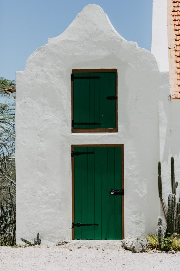 Green Blue Door Property House Wall Turquoise Architecture Building Facade Tree Window Landscape Home Rock