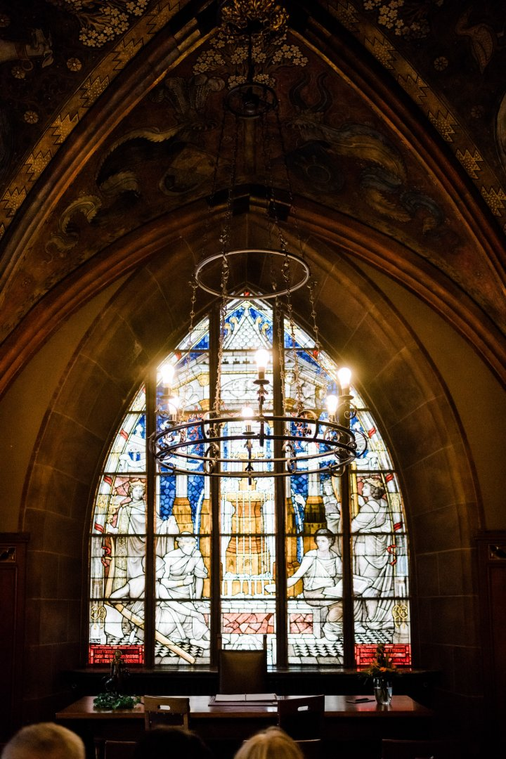 Stained glass Glass Chapel Holy places Place of worship Architecture Window Medieval architecture Building Byzantine architecture Church Shrine Arch Cathedral Vault Gothic architecture Convent Crypt Interior design Arcade Baptistery Daylighting Symmetry