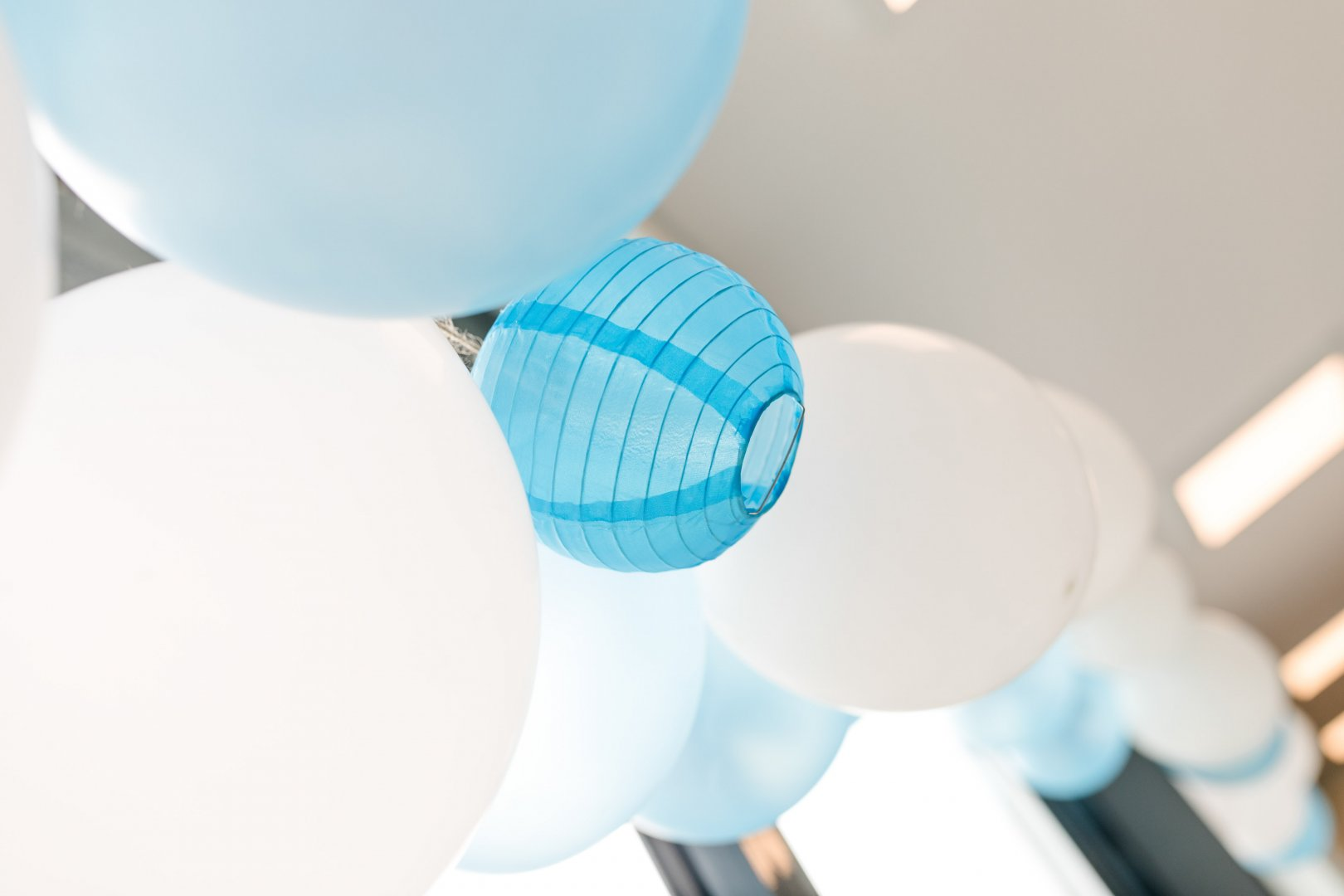 Blue Turquoise Balloon Room Toy Ceiling Party supply Turquoise