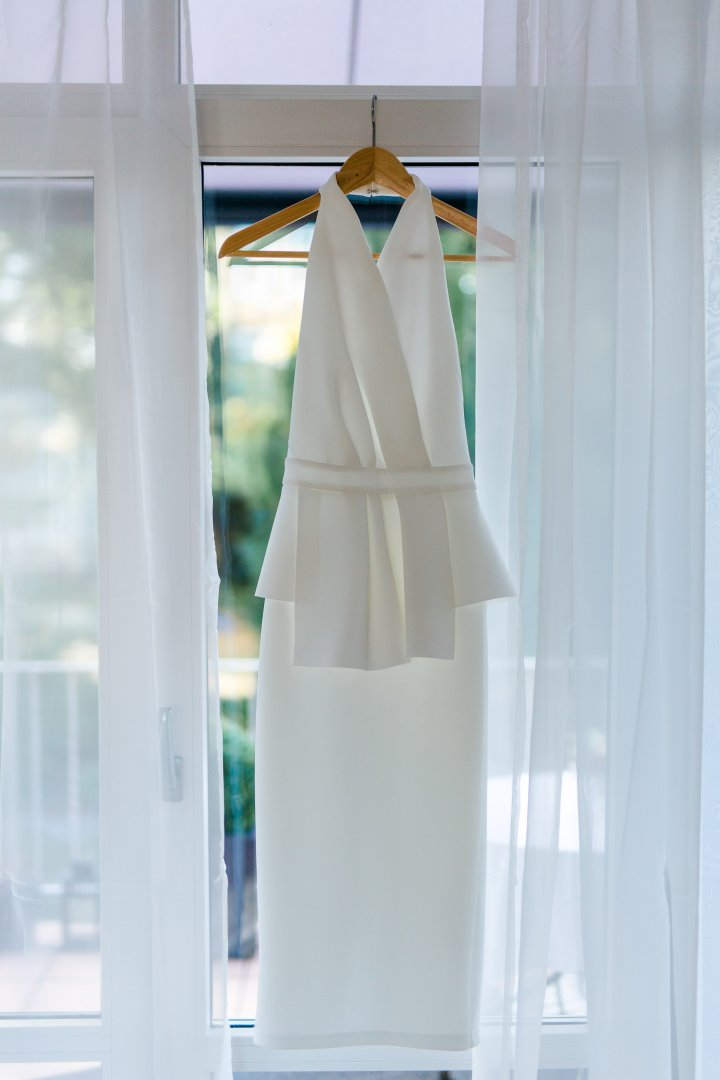 White Dress Gown Room Wedding dress Formal wear Bridal clothing Furniture Clothes hanger