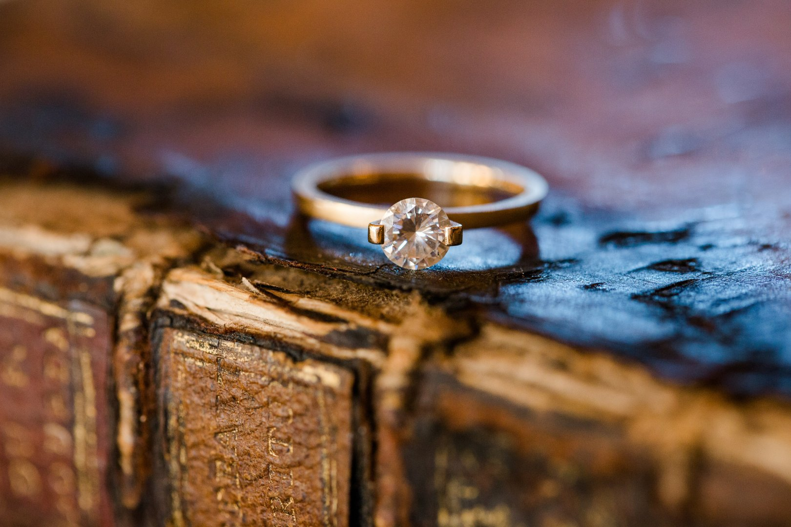 Ring Wedding ring Wedding ceremony supply Engagement ring Jewellery Fashion accessory Macro photography Still life photography Body jewelry Wood Close-up Diamond Photography Engagement Metal Silver