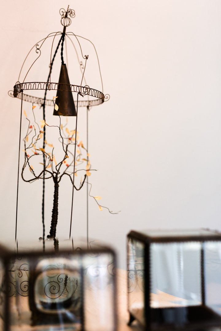 Cage Lighting Room Light fixture Chandelier Iron Table House Lampshade Interior design Lighting accessory Lamp Glass Still life photography Interior design