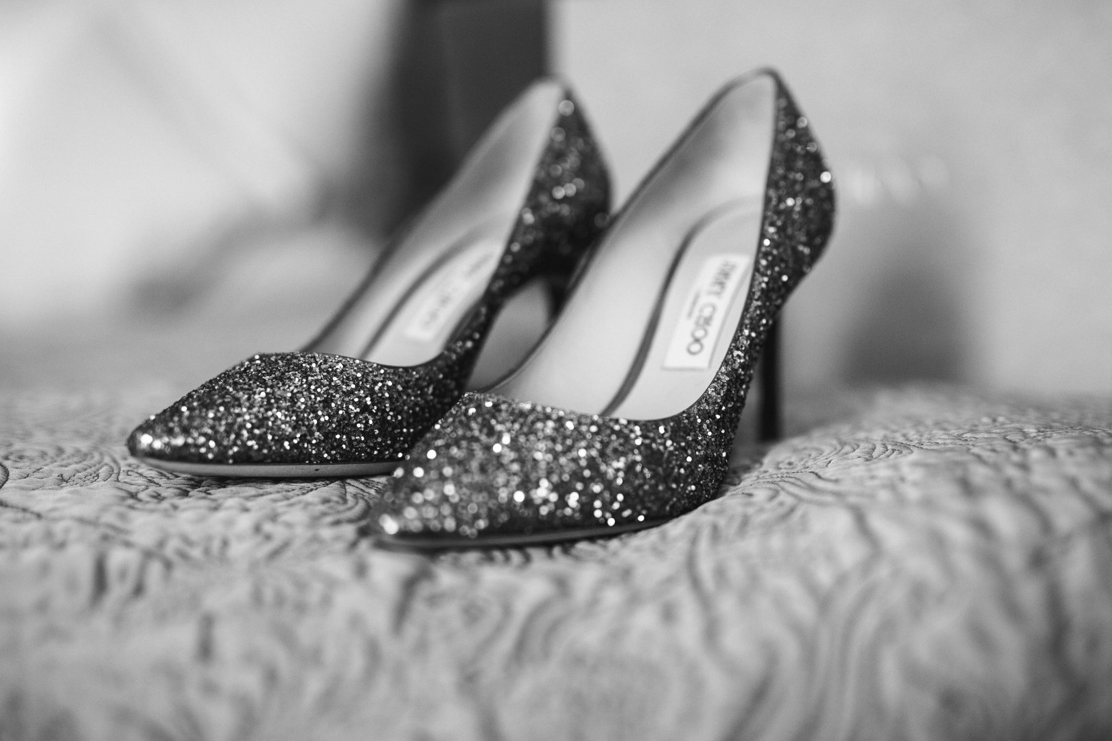 Footwear White Black Photograph Shoe Black-and-white Glitter Monochrome Monochrome photography Silver Close-up Photography High heels Still life photography Leg Embellishment Dress Court shoe Bride Fashion accessory Wedding Ballet flat Stock photography Ceremony Style Metal