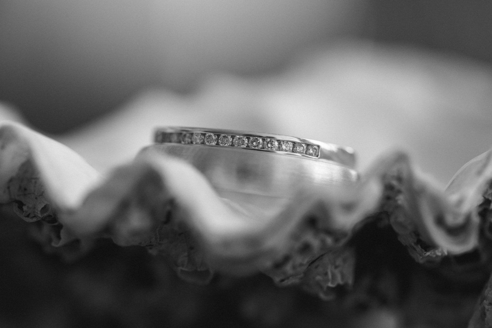 White Photograph Black-and-white Close-up Monochrome photography Macro photography Monochrome Photography Jewellery Ring Fashion accessory Still life photography Hand Metal Wedding ring Bracelet Stock photography Wedding ceremony supply Silver Style