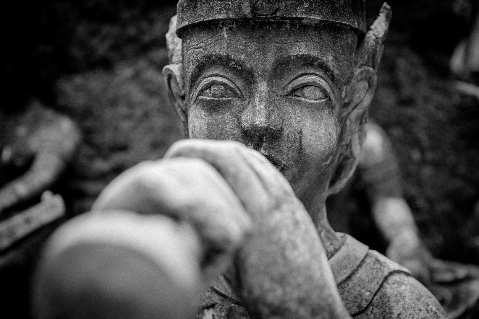 Black People Black-and-white Monochrome photography Skin Monochrome Statue Eye Human Forehead Wrinkle Photography Stock photography Hand Human body Temple Sculpture Art Style World Portrait photography Stone carving