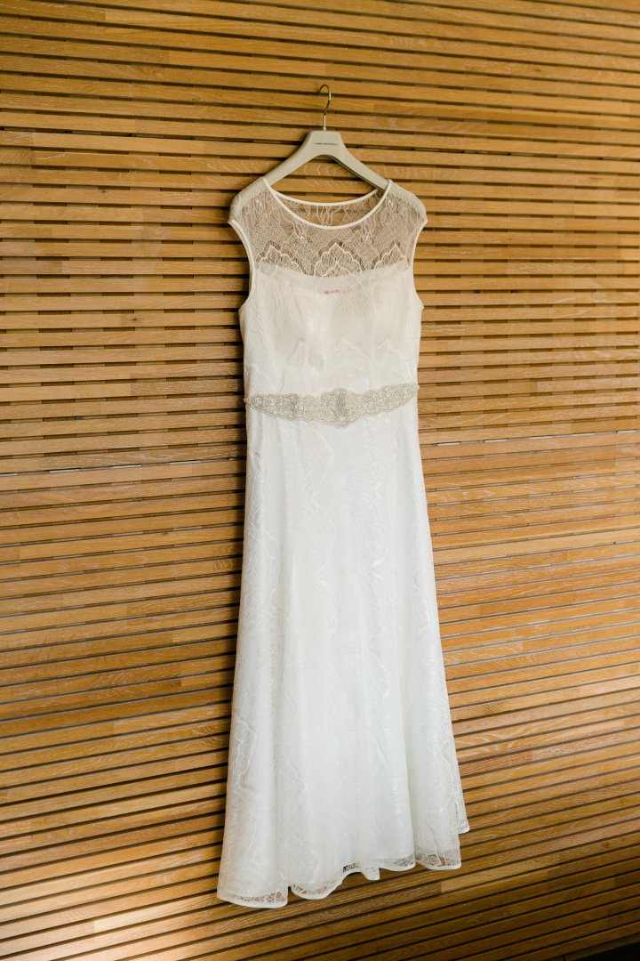 Clothing Dress White Gown Bridal party dress Wedding dress Bridal clothing Day dress Cocktail dress Formal wear Bridal accessory Lace A-line One-piece garment
